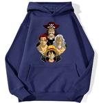 sweatshirt hoodie one piece legends bleu marine