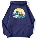 sweatshirt hoodie one piece vogue merry bleu marine