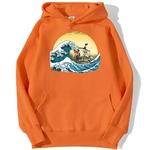 sweatshirt hoodie one piece vogue merry orange