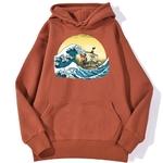 sweatshirt hoodie one piece vogue merry rouge brique