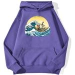 sweatshirt hoodie one piece vogue merry violet