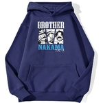 sweatshirt hoodie one piece brother nakama bleu marine