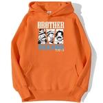 sweatshirt hoodie one piece brother nakama orange