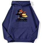 sweatshirt hoodie one piece we are brothers bleu marine