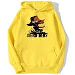 sweatshirt hoodie one piece we are brothers jaune