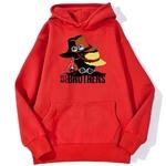 sweatshirt hoodie one piece we are brothers rouge