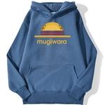 sweatshirt hoodie one piece mugiwara strawhat bleu azur