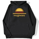 sweatshirt hoodie one piece mugiwara strawhat noir