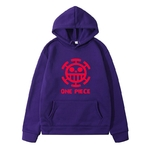 sweatshirt hoodie one piece traflagar law logo rouge 1