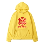 sweatshirt hoodie one piece traflagar law logo rouge 7