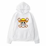 sweatshirt hoodie one piece logo blanc