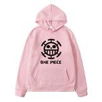 sweatshirt hoodie one piece traflagar law logo noir 5