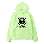 sweatshirt hoodie one piece traflagar law logo noir 6