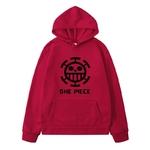 sweatshirt hoodie one piece traflagar law logo noir 8