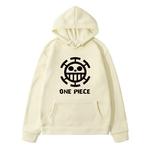 sweatshirt hoodie one piece traflagar law logo noir 9
