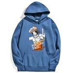 sweatshirt hoodie one piece portgas ace bleu azur