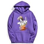 sweatshirt hoodie one piece portgas ace violet