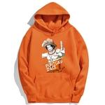 sweatshirt hoodie one piece portgas ace orange