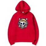 sweatshirt hoodie one piece skull rouge