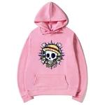 sweatshirt hoodie one piece skull rose