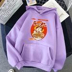 sweatshirt hoodie one piece luffy ramen violet