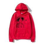 sweatshirt hoodie one piece luffy ok rouge
