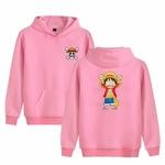 sweatshirt hoodie one piece monkey luffy rose