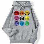 sweatshirt hoodie one piece mugiwara gris