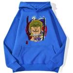 sweatshirt hoodie one piece roronoa zoro bleu