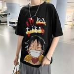 t shirt one piece harajuku luffy noir 4