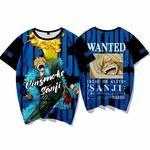 t shirt one piece wanted vinsmoke sanji 1