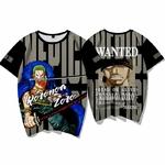 t shirt one piece wanted roronoa zoro 1