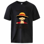 t shirt one piece protect nakama luffy noir