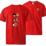 t shirt one piece luffy goku fusion rouge