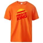 t shirt one piece pirate king orange