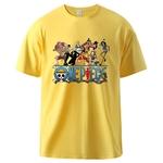 t shirt one piece nakama jaune