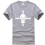t shirt one piece barbe blanche gris