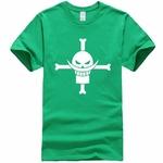t shirt one piece barbe blanche vert