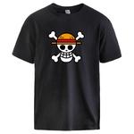 t shirt one piece logo noir