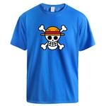 t shirt one piece logo bleu