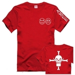 t shirt one piece ace barbe blanche rouge