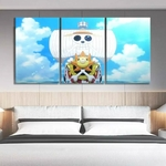 tableau toile one piece 3 parties thousand sunny ship 1