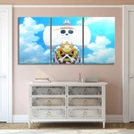 tableau toile one piece 3 parties thousand sunny ship 2