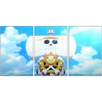 tableau toile one piece 3 parties thousand sunny ship 3