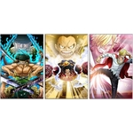 tableau toile one piece 3 parties luffy kings haki 3