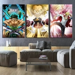 tableau toile one piece 3 parties monster trio 1