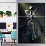 tableau toile one piece 3 parties nico robin beginning 1