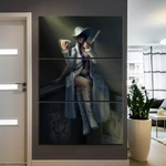 tableau toile one piece 3 parties nico robin beginning 2