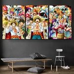 tableau toile one piece 3 parties roi pirates 1