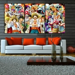 tableau toile one piece 3 parties roi pirates 2